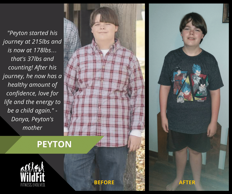 WildFit Reviews - weight loss in children. Peyton before and after.
