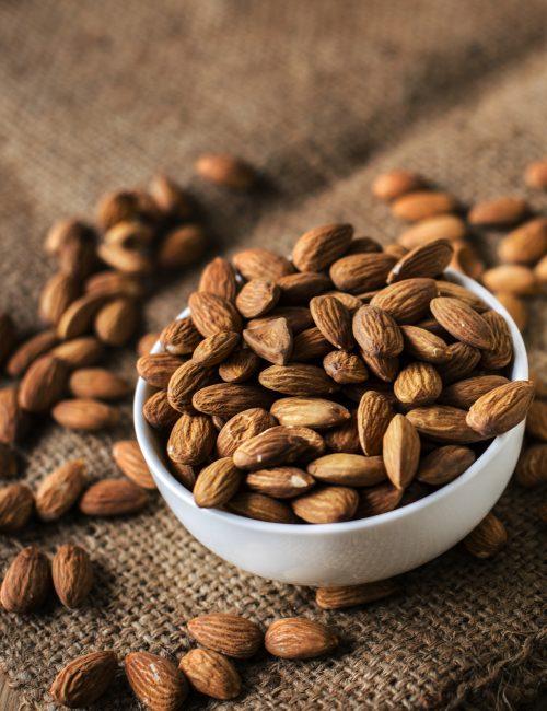 Magnesium foods - Bowl of High Magnesium Almonds