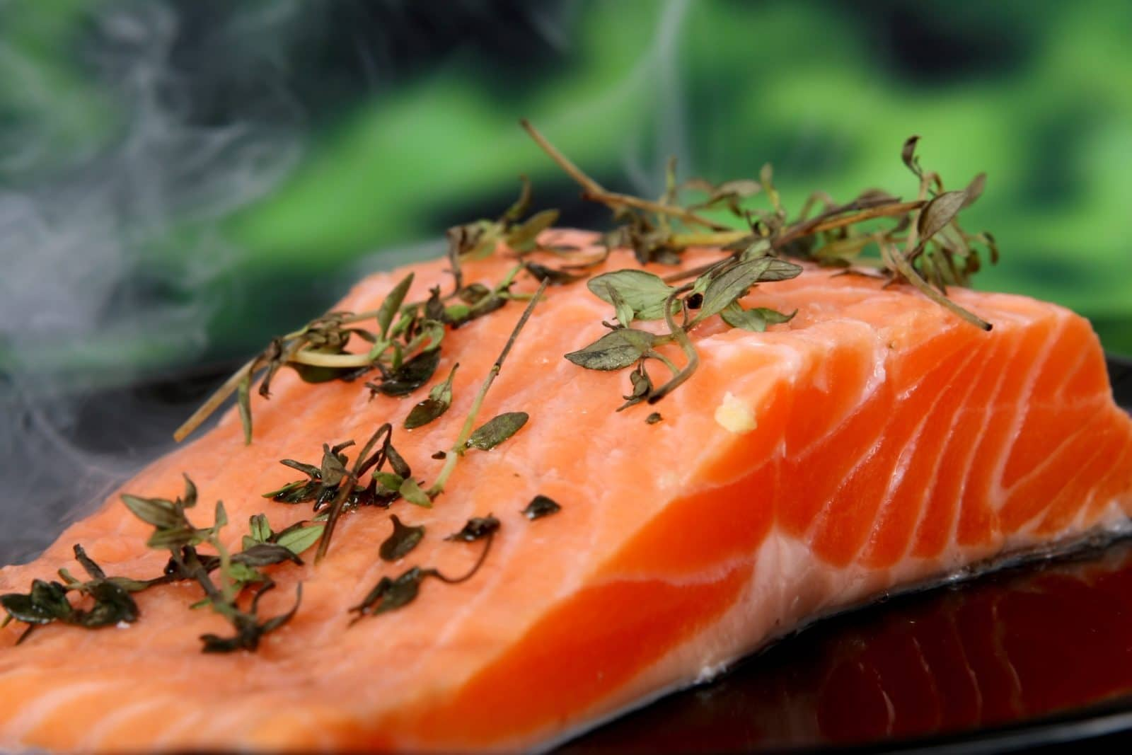 The power of B12 - Salmon Steak with Herbs